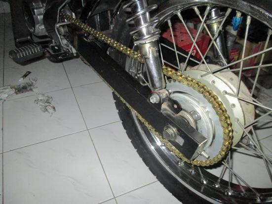 setelah terpasang pada gear megapro