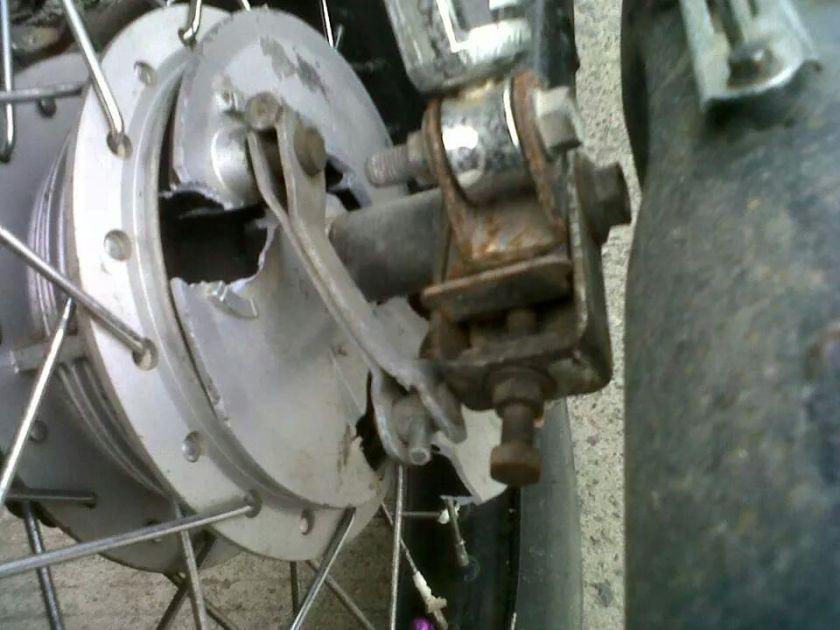 Panel tromol rx king hancur ketika pedal rem di injak