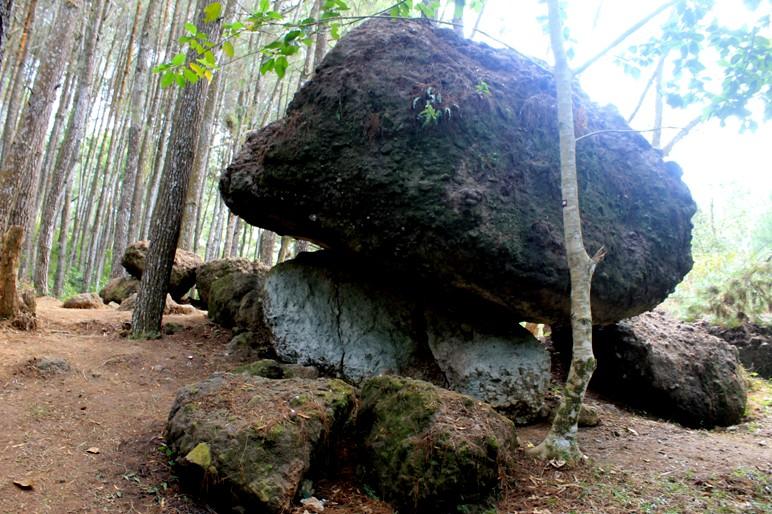 Watu Tumpang...Adakah yang bisa menjelaskan...kenapa batuan karang bisa berada diatas pegunungan kapur??
