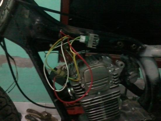 kabel spull dan kiprok disambung...tidak pakai aki tidak apa2