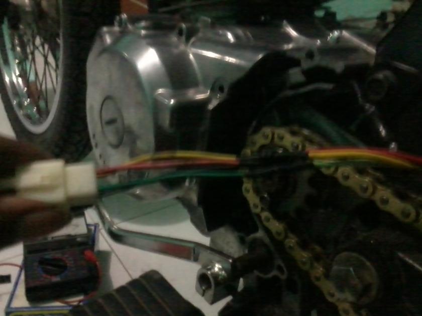 soket + selang bakar...sambungan rapi anti korslet...tinggal dibungkus isolasi