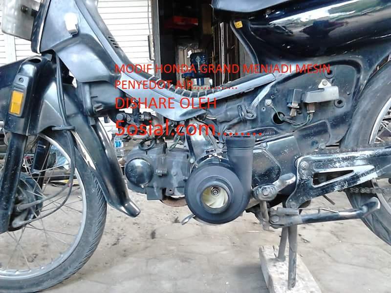 5osial.com..modif motor grand jadi mesin penyedot air