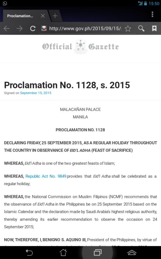 Surat resmi negara