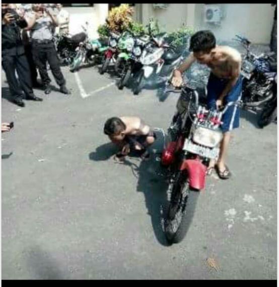 hukuman dari pak polisi